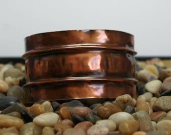 Copper Cuff Bracelet Fold Formed