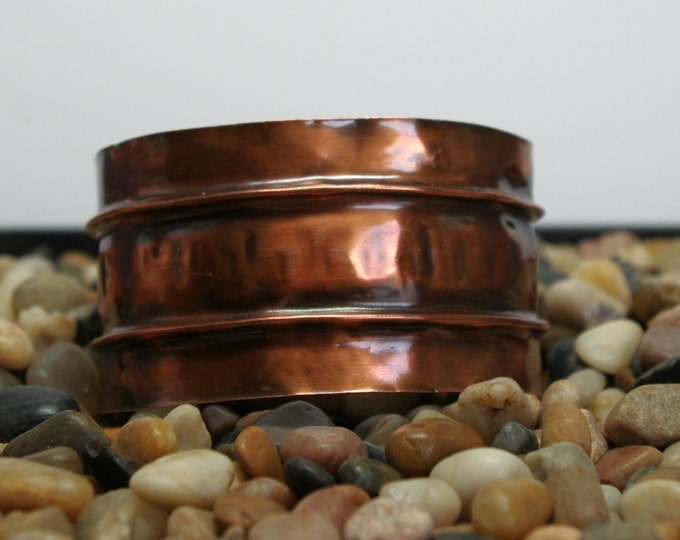 Copper Cuff Bracelet Fold Formed