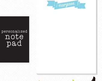 Note pad, Personalized Note Pad