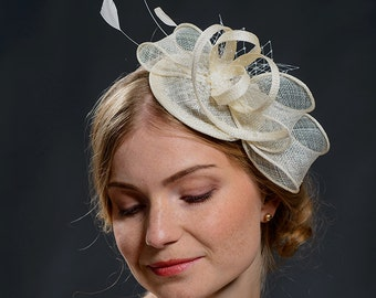 White wedding fascinator hat for your special occasions-New fascinator style in my shop