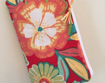 Bright Floral in Oranges and Yellows ~ Raegan Wristlet Free Shipping in the US