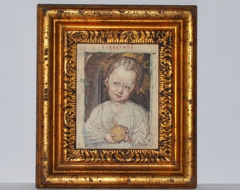 Catalda Fine Arts Framed Albrecht Durer Infant Jesus Boy with Globe Print