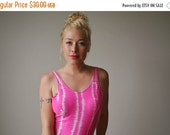 ON SALE 1990s Bermuda TieDye Swimsuit >> Size Small