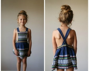 ON SALE 1960s Embroidered Sundress~Size 2t/3t/4t
