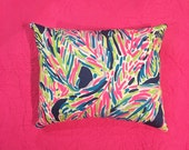 New Pillow made with Lilly Pulitzer Navy Palm Reader fabric