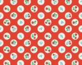 Clerance FABRIC STRAWBERRY BISCUIT Floral on Red by Riley Blake 1/2 yard