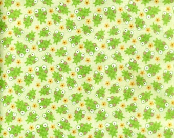 CLEARANCE FABRIC BABY Frogs from Sweet Friends line by Riley Blake 1/2 Yard