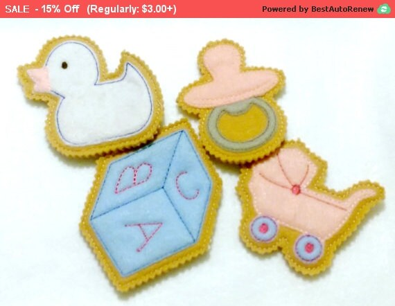 sale baby shower favor felt baby shower iced cookies unique baby