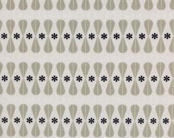 Floral Geo in Black and White for Cotton and Steel - 1 Yard