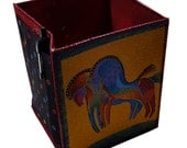 Table Top Organizer in Laurel Burch Horse Fabrics