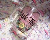 CLEARANCE Male Tears Mug - BLEMISH - PINK Heart - Feminist Glass Beer Mug