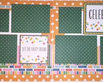 Premade 12 x 12 Scrapbook Page - Birthday - Celebrate - Birtday Layout