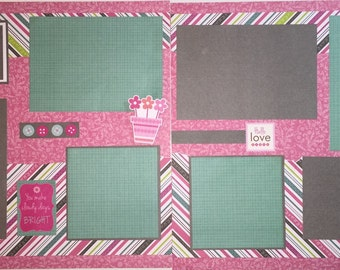SWEET BABY 12 x 12 premade scrapbook layout - Baby Girl Child