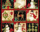 Winter Bliss 3243P-99 Panel Cotton Fabric- Quilting and Sewing