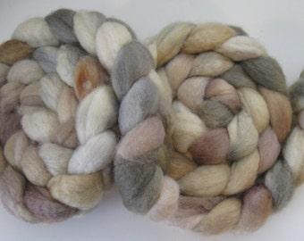 Mossy Rocks-  BFL Wool Roving (Top) - Handpainted Spinning or Felting Fiber - 4 ounces