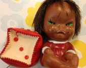 Vintage Japan Cry Baby in Red and Dice Style Coin Purse Lot
