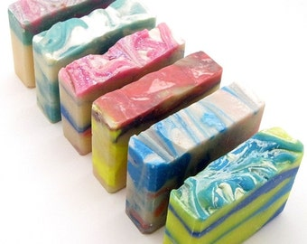 Homemade Soap Gift Set! 6 Soaps For Fun Party Girls