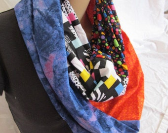OOAK Hidden Zipper Pocket Cowl/Circle Scarf/Infinity Scarf (5094)