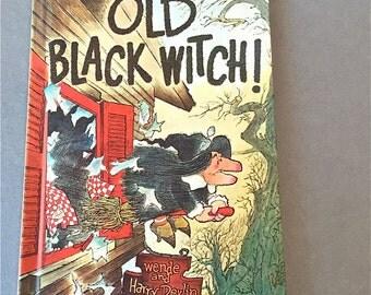 OLD BLACK WITCH Parents Magazine Press Wende Harry Devlin . Pancakes . vintage childrens book . bedtime story . 1966 New England Tea Room