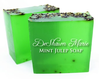 SALE SOAP - Mint Julep Soap, Mint Soap, Vegan Soap, Spearmint Soap, Soap Gift, Green Soap, Kentucky Derby, Father's Day Gift, Christmas Gift