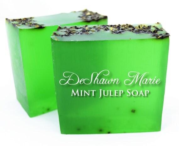SALE SOAP - Mint Julep Soap, Mint Soap, Vegan Soap, Spearmint Soap, Soap Gift, Green Soap, Kentucky Derby, Father's Day Gift, Christmas Gift