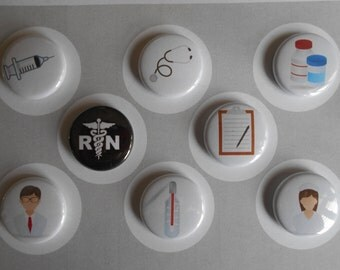 Nursing Flair buttons-YOU CHOOSE STYLE