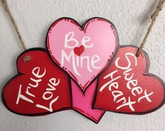 Welcome Double Sided Valentine's Day/St Patrick's Day Charm for Welcome Sign or Wreath