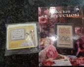 Hardcover cross stitch book and wedding cross stitch kit