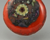 Sizzle Star ... glass CABOCHON artsy organic lampwork jewelry designer cabs  by GrowingEdgeGlass/ Mikelene Reusse