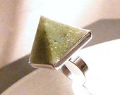 NEW Moldavite Orgone Pyramid Ring or Necklace