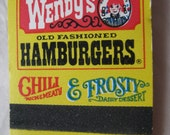 Wendy's Matchbook Vintage Matches