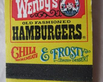 Wendy's Matchbook Vintage Matches