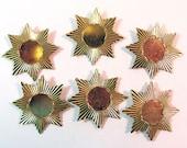 Gold Star Pendant Findings