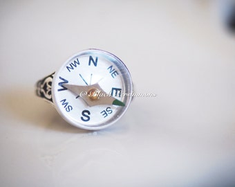 Compass Signet Ring - Large Working Compass - Made in USA Components - Insurance Included