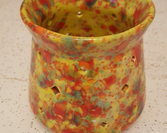 Votive candle holder Fall Colors