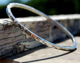 Hammered Square Bangle