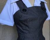 SALE Darling 1940s style Rosie overalls  XS S M L XL Striped black denim