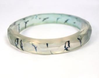 Birds Resin Bangle Bracelet