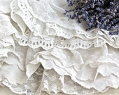 Vintage French Ruffles......Lace Petticoats