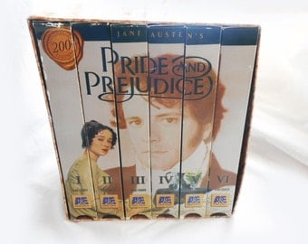 Vintage Pride and Prejudice VHS Tape Box Set Jane Austen BBC Productions Colin Firth Jennifer Ehle The Original Regency Romance