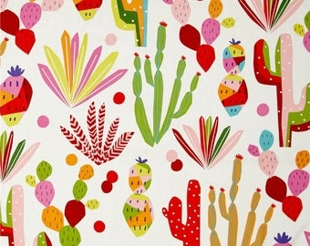 Southwestern Shower Curtain, Cactus Shower Curtain, Joshua Tree, Prickly Pear, Colorful Bathroom Decor, Pink, Green, Bright Shower Curtain