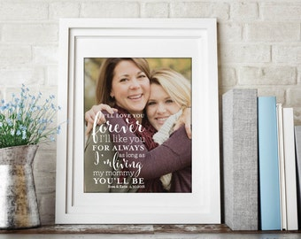 Mom Quote, Mother's Day Gift, Gift for Mom, Mom Photo Quote, Custom Mom Gift, Mom Canvas Art, Mom Birthday // W-Q04-1PS QQ5 04S