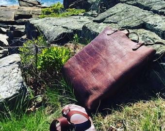 Leather Work Satchel / Handcrafted / Leather Tote / Leather Bag / Leather work Tote / Minimalist Leather Bag