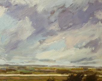 Oh April | Oil Painting Original Painting Landscape Painting | 12 x 12