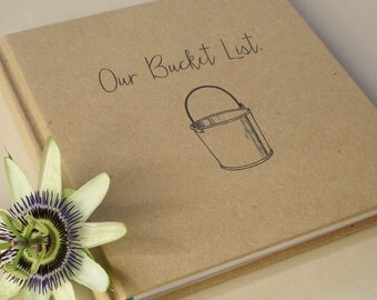 CUSTOM First Anniversary Gift Journal · Our Wedding Anniversary Book · Our Bucket List · Paper Anniversary Gift