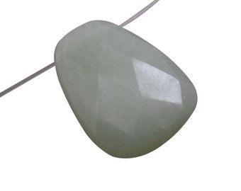 Jade Pendant, Chinese New Jade Briolette, Focal, 22mm x 29mm, SKU 4267A