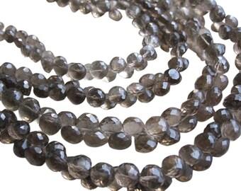 Smokey Topaz Beads, Smokey Topaz Briolettes, Onion Briolettes, SKU 2128A