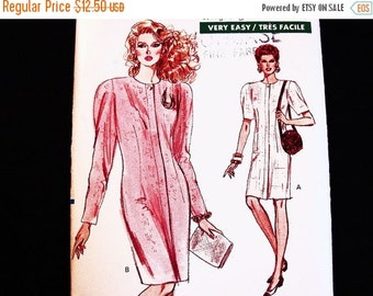 on SALE Easy Vogue Dress Pattern Misses size 12 14 16 UNCUT Women Shift Dress Pattern Easy to Sew