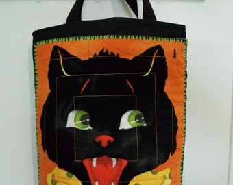 Halloween Trick or Treat Bag Fangs Halloween Candy Gift Bag
