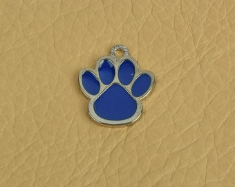 Puppy Paw Charm, 25mm  x 20mm wide, ring on top sold package of 6 each 05003CS